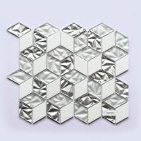 Glass Mosaic Subway Tile 300X300 Glossy Glass Hexagon Porcelain Mosaic Tile for sale