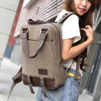 Vintage Unisex College Student Backpack 2 In 1 Use With A Lot Of Pockets