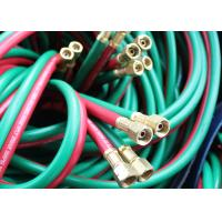 Fiber Braided Twin Welding Hose With Brass Adapter , Twin Line Hose 300 Psi