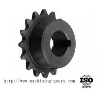 Quality Quenching / Blackened Chain Sprocket Wheel 0.03mm Tolerance Wear Resistance for sale