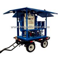 trolly mounted vehicle for transfomer oil filteration,transformer oil filter machine,6000l h high vacuum oil filtration for sale