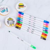 China Food Decorating Edible Marker Pen Thick And Fine Tip With Customized Logo for sale