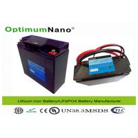 Wholesale Golf Trolley Electric LiFePO4 12V Lithium Battery with Non Toxic Materials OptimumNano from china suppliers