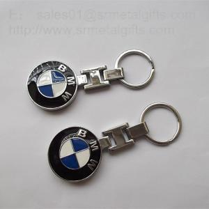 China Enamel metal BMW car logo coin holder keychains, custom auto logo keychains, on sale