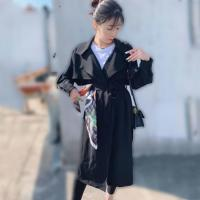 China Long Women Trench Coats Wind Coats For Ladies with Belt, Spring and Autumn for sale
