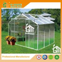 Buy cheap Sliver Color Aluminum Polycarbonate Vegetable Planthouse With Gutter - 6'x8'x6.7 from wholesalers