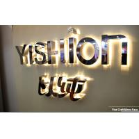 China Stud Mounting Reverse Lit Metal Letters Sign LED Channel Letter Sign on sale