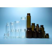 China Customized Size Screw Top Vials Clear And Amber Color With Screw Threaded Mouth for sale