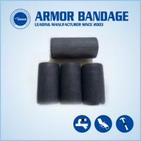 China 4inch 4.6m Black Structural Strengthening Material Sheath Repair Armor cast for sale