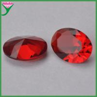 red oval/round/Square/Marquise/rectangle/heart shaped decorative glass stones for vase for sale