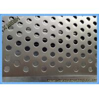 Wholesale Powder Coated Perforated Metal Sheet Staggered Round Punched Customized Length from china suppliers