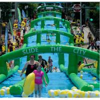 China Customized Commercial Extra long slide PVC inflatable water slide for adult for sale