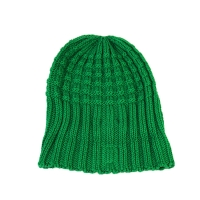 Wholesale High Quality ACE Factory Price ODM OEM Solid Green Color Unisex Adjustable Custom Logo Beanies Knitted Cap from china suppliers