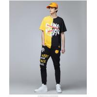 Wholesale 2019 Men's New Latest Hip Hop Design Printed Streetwear Short Sleeve T Shirt from china suppliers