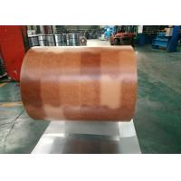 Wholesale Printing Color Prepainted Galvalume Steel Coil 55% Wooden Brick Pattern from china suppliers