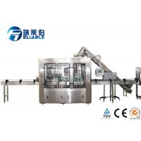 Wholesale Fully Auto Glass Bottle Filling Machine , Soda Water Small Bottling Machine from china suppliers