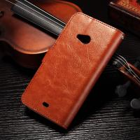 PU Handmade Nokia Lumia Leather Case Flip Cover For Nokia 535 / 540 Anti - Slip