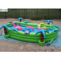 Wholesale Toddlers Garden Inflatable Games With Horse And Turtle , Green / Blue / Pink from china suppliers