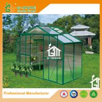 Buy cheap Green Color Aluminum Polycarbonate Flowerhouse Used For Sale - 4'x8'x6.7'FT from wholesalers