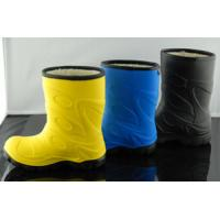 China Half Yellow Or Grey Childrens Rain Boots Durable And Long Lasting on sale