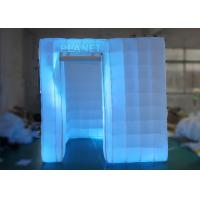 Wholesale 2.5 M Led Inflatable Photo Booth One Door With Color Changing Light from china suppliers