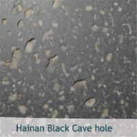 Hainan Black Cave Hole Granite Stone for sale