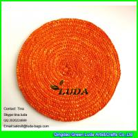 China LUDA bamboo placemats wholesale natural wheat straw cup and table mats on sale