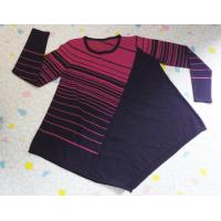 Buy cheap Diagonal Stripe Pullover Fashion Sweaters Expansion Hem Womens Pullover Sweaters from wholesalers
