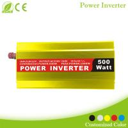 China 500W Power Inverter 12V DC cigarette lighter or battery clips to 120 Volt AC for sale