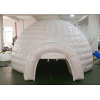 Wholesale White Inflatable Igloo Tent Outside Diameter 4.8 Meter CE Certificated from china suppliers