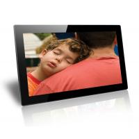 Black 18.5 Inch Baby / Friends Wall Mounted Digital Photo Frame Supports SD / MMC Cards