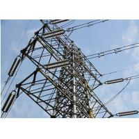 China Galvanized Surface Tubular Steel Tower For Power Transmission With 3 / 4 Leg for sale