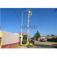 Wholesale Single Mast Trailer Mounted Lift Aluminium Alloy Hydraulic Aerial Work Platform from china suppliers