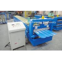 3kw Blue Corrugated Roofing Sheet Roll Forming Machine With Chrome Plated