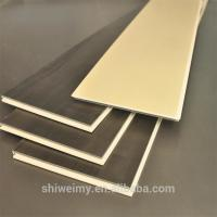 China Solid color flat surface wood garin WPC laminating flooring tile on sale