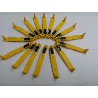Wholesale Long Strip Shape Livestock Ear Tags TPU Material Sheep Ear Tag Yellow Color from china suppliers