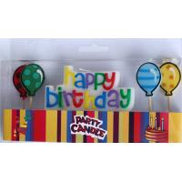 Wholesale Happy Birthday Letter Candles with Balloon-shaped Candles (ZMC0057) from china suppliers
