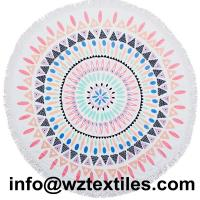 Wholesale 100% Cotton Round Beach Towels With Fringe from china suppliers