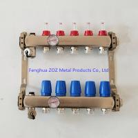 China Stainless Steel Manifolds Set For Underfloor Heating With Temperature Gauge (0-80°C ) for sale