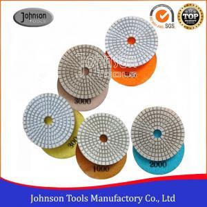 White Type Diamond Resin Polishing Pads , Stone Polishing Pads 75mm - 180mm