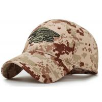 Wholesale Leisure Camouflage Custom Embroidered Caps , Snapback Embroidered Fitted Hats from china suppliers