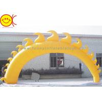 Best 5m Yellow Sun Shape Oxford Fabric Inflatable Giant Arch With Blower For Event wholesale