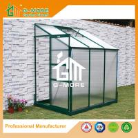 Buy cheap Green Color Wall Lean-to 4mm PC Aluminum Greenhouse - 216x145x221cm from wholesalers