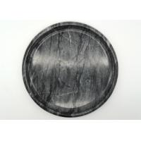 Wholesale Hotel Natural Round Marble Serving Tray Black Polished Environment Friendly from china suppliers