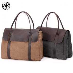 China China supplier wholesale price men duffle bag high quality canvas leather handbag custom leather travel bag on sale