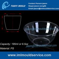Wholesale 200ml thin wall PS disposable plastic ice cream bowls injection mould with lids from china suppliers