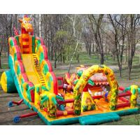 Buy cheap Outside Inflatable Theme Park With Slide , Inflatable Chilren Fun Land Games from wholesalers