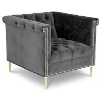 Wholesale Hot sell tufted botton velvet accent chair, living room furniture single lounge sofa chair from china suppliers