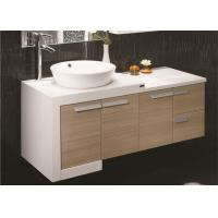 China Custom Bathroom Vanities For Small Bathrooms , Yellow Free Standing Bathroom Vanity Units on sale