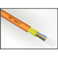 Best Multimode Direct Burial Fiber Optic Cable , Kevlar Yarn Buffered Fiber Cable wholesale